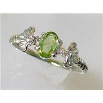 SR192, Peridot, 925 Sterling Silver Ring