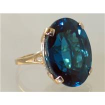 R129, London Blue Topaz, Gold Ring