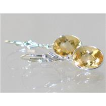 SE101, Citrine, 925 Sterling Silver Earrings