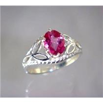 SR137, Pure Pink Topaz, 925 Sterling Silver Ring