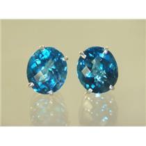 London Blue Topaz, 925 Sterling Silver Earrings, SE202