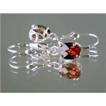 Mozambique Garnet, 925 Sterling Silver Earrings, SE007