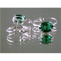 Russian Nanocrystal Emerald, 925 Sterling Silver Earrings, SE007