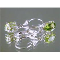 Peridot, 925 Sterling Silver Earrings, SE007