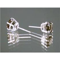 Smoky Quartz, 925 Sterling Silver Earrings, SE012