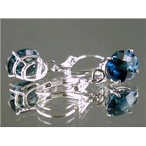 SE107, London Blue Topaz, 925 Sterling Silver Earrings