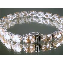 SB002, Champagne CZ, 925 Sterling Silver Bracelet