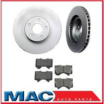 Tundra Sequoia Front (2) Brake Rotors 31482 & Dash4 Ceramic Pads CD1303
