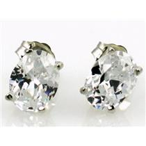 SE002, Cubic Zirconia, 925 Sterling Silver Earrings