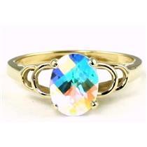 R300, Mercury Mist Topaz Gold Ring