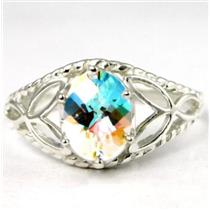 SR137, Mercury Mist Topaz, 925 Sterling Silver Ring