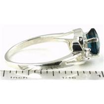 SR176, London Blue Topaz, 925 Sterling Silver Ring