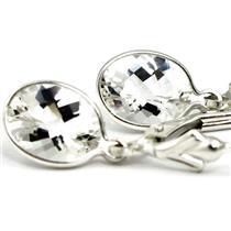 925 Sterling Silver Earrings, Silver Topaz, SE001