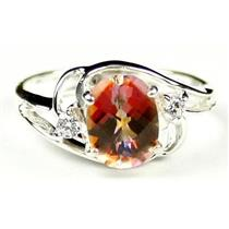 SR176, Twilight Fire Topaz, 925 Sterling Silver Ring
