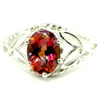 SR137, Twilight Fire Topaz, 925 Sterling Silver Ring