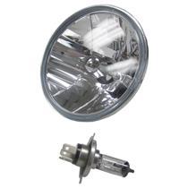 "7"" Set of (2) Round Halogen Motorcycle Bike Headlight Lamp Bulb Diamond"