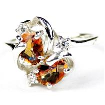 SR016, Twilight Fire Topaz, 925 Sterling Silver Ring