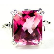 SR188, Pure Pink Topaz, 925 Sterling Silver Ring
