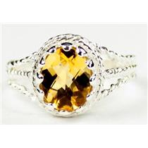 Citrine, 925 Sterling Silver Ring, SR070