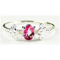SR192, Pure Pink Topaz, 925 Sterling Silver Ring