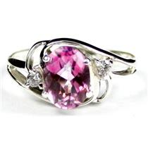 SR176, Pure Pink Topaz, 925 Sterling Silver Ring