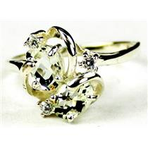 SR016, Green Amethyst, 925 Sterling Silver Ring