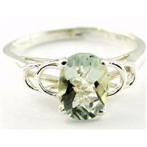SR300, Green Amethyst, 925 Sterling Silver Ring