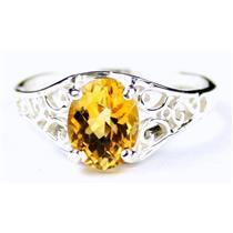 SR305, Citrine, 925 Sterling Silver Ring
