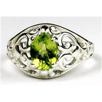 Peridot, 925 Sterling Silver Ring, SR111