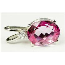 925 Sterling Silver Pendant, Pure Pink Topaz, SP020