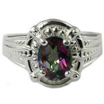 SR284, Mystic Fire Topaz, 925 Sterling Silver Ring