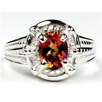 SR284, Twilight Fire Topaz, 925 Sterling Silver Ring