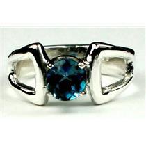 SR307, London Blue Topaz 925 Sterling Silver Ring