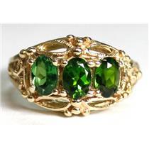R163, Tsavorite Garnet, Gold Ring