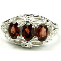 SR163, Mozambique Garnet, Sterling Silver Ring