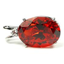 925 Sterling Silver Pendant, Padparadscha CZ, SP085