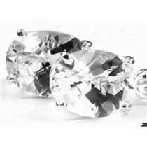 925 Sterling Silver Threader Earrings, Silver Topaz, SE003