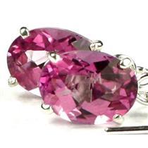 925 Sterling Silver Threader Earrings, Pure Pink Topaz, SE003