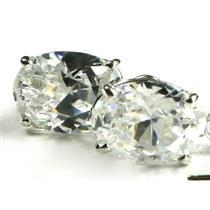 925 Sterling Silver Threader Earrings, Cubic Zirconia, SE003