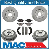 10-13  Transit (2) Front Rotors & Dash4 CERAMIC Brake Pads Drums & Brake Shoes