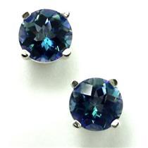 925 Sterling Silver Post Earrings, Neptune Garden Topaz, SE012
