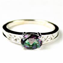 SR362, Mystic Fire Topaz, 925 Sterling Silver Ladies Ring