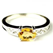 SR362, Citrine, 925 Sterling Silver Ladies Ring