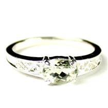 SR362, Green Amethyst (Prasiolite), 925 Sterling Silver Ladies Ring
