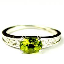 SR362, Peridot, 925 Sterling Silver Ring