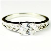 SR362, Cubic Zirconia, 925 Sterling Silver Engagement Ring
