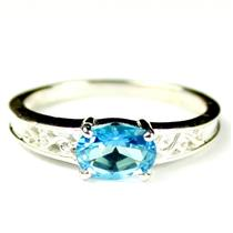 Paraiba Topaz, 925 Sterling Silver Ladies Ring, SR362
