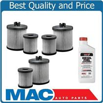03-07 F250 Super-Duty 6.0L Diesel Water Separator Fuel Filter 3Pk With Additive