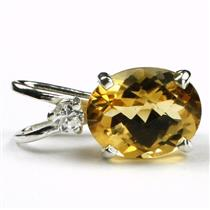 925 Sterling Silver Pendant, Citrine, SP021