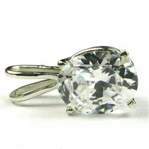 925 Sterling Silver Pendant, Cubic Zirconia, SP002